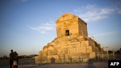 The limestone tomb of ancient Persian King Cyrus the Great, founder of the Achaemenid empire in the 6th century B.C. in Pasargadae near Shiraz, some 950 km south of Tehran.