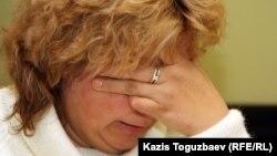 Лариса Григорьева, мать скончавшегося в тюрьме заключенного Сергея Григорьева. Алматы, 7 ноября 2011 года.