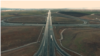 Pamje nga droni të një autostrade në Kosovë