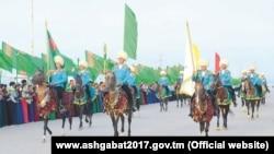 Конный марш в Туркменистане