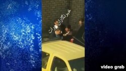 Footage posted on social media appears to show President Ashraf Ghani's personal bodyguards dragging a civilian into a military vehicle in Herat on December 13.