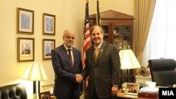 Претседателот на Собранието Талат Џафери средба со конгресменот на САД Роберт Питинџер
