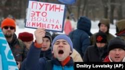 Февраль 2016 года, протестная акция дальнобойщиков