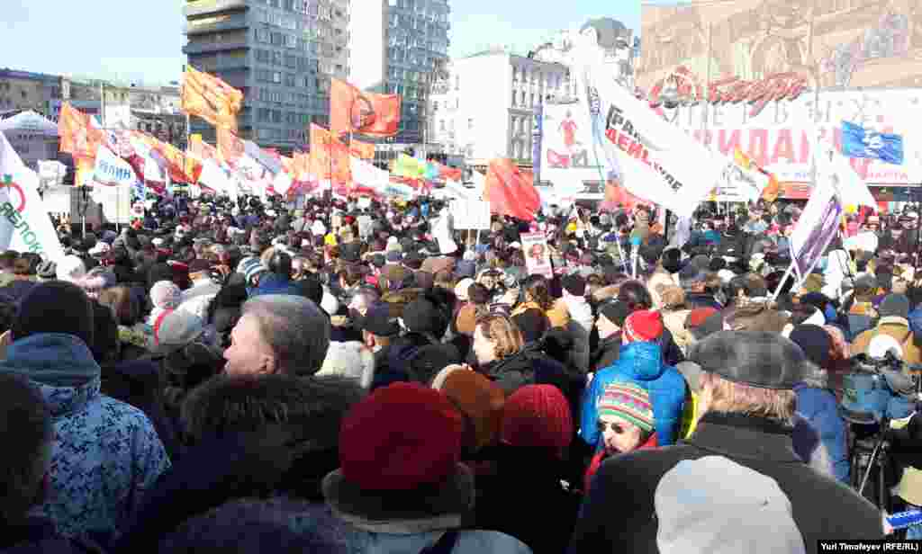 """Митинг """"За честные выборы"""" на Новом Арбате 10 марта 2012 года"""