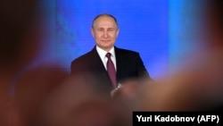 Володимир Путін виступає з посланням до Федеральних зборів, 1 березня 2018 року