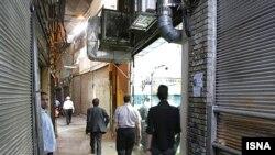 بازار تهران در روز یکشنبه ۲۱ مهر ماه. (عکس از ایسنا)
