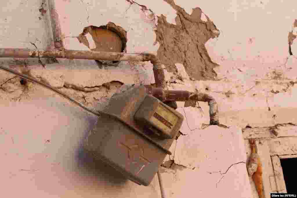 Газовый счетчик на доме, где произошел взрыв.