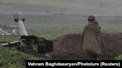 Огневая позиция в Нагорном Карабахе. Иллюстративное фото.