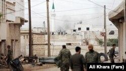 تصویر منتشر شده در خبرگزاری فارس از حضور نیروهای سپاه پاسداران در شهر حلب.