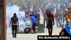 القاهرة 19 آذار مشهد من تظاهرات الاخوان