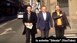 Božo Petrov, Drago Prgomet i Ivan Lovrinović dolaze na sastanak u Most, 11. studenog 2015.