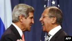 Джон Керри и Сергей Лавров. Женева, 14 сентября 2013 года