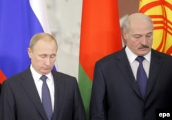 Олександр Лукашенко та Володимир Путін у Москві. 23 грудня 2014 року