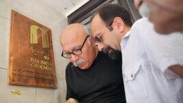 Иран режиссері Асгар Фархади (оң жақта). Тегеран, 18 шілде 2013 жыл. (Көрнекі сурет)