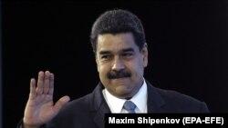 Президент Венесуэлы Николас Мадуро на конференции «Российская энергетическая неделя». Москва. 4 октября 2017 года.