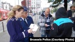 Nicoleta Privantu în patrulare la Bruxelles