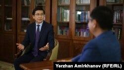 Министр образования и науки Казахстана Асхат Аймагамбетов. Нур-Султан, 10 октября 2019 года.