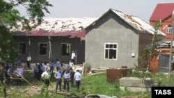 The site of an attack on President Yunus Bek Yevkurov near Nazran, 22Jun2009
