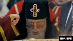 Patriarch Ilia II, the head of the Georgian Orthodox Church (file photo)