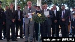 Armenia -- Russia's Ambassadror to Armenia Vyacheslav Kovalenko gives a speech in Gyumri, 01Sep2011.