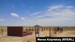Кладбище для захоронения умерших от коронавируса, расположенное в пригороде Алматы.