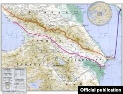 Azərbaycan Milli Elmlər Akademiyası Coğrafiya İnstitutnun yaydığı xəritə