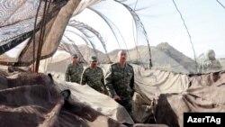 Իլհամ Ալիևը այցելում է շփման գծի Աղդամի հատված, 6-ը օգոստոսի, 2014թ․