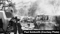 Прага после ввода советских войск. Август 1968 года