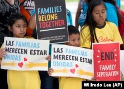 Акция против разделения семей мигрантов