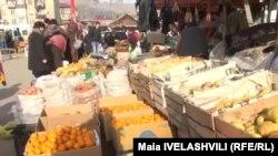 Georgia -- Marketplace, Market. Akhaltsikhe, 30Dec2013