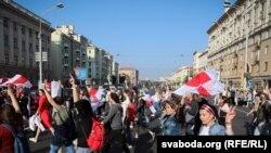 معترضان در مینسک پایتخت بلاروس