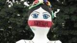 На акции протеста представителей профсоюзных организаций Украины