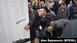 Uklonjena riječ genocid s mezarja u Višegradu