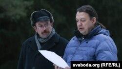 Вячаслаў Сіўчык (зьлева) і Алесь Макаеў (справа)