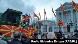 Під час одного з попередніх протестів у Македонії