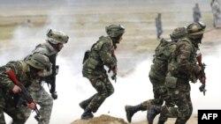 Во время совместных азербайджано-американских военных учений, 24 апреля 2009