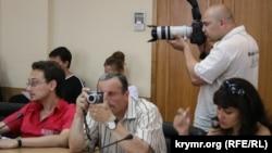 Микола Семена на пресконференції в уряді Криму, 2010 рік