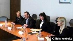Ministar Svetozar Čiplić sa saradnicima tokom posjete Sarajevu