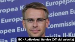 Peter Stano, purtătorul de cuvînt al coordonatorului politicii externe și de securitate a Uniunii Europene Josep Borrel, imagine de arhivă