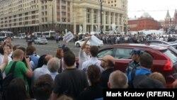 Pamje nga sheshi Manezhnaja në Moskë