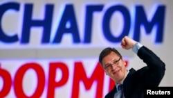 Aleksandar Vučić na predizbornom skupu 2014.