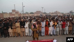 File photo of the funeral for an executed prisoner in Pakistan.