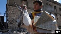 Сирия, город Идилиб после бомбардировки военных, 16 февраля
