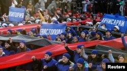 Proslava prve godine aneksije Krima u Simferopolju