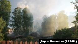 Дым от лесопилки