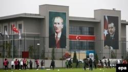 Slika Mustafe Kemala Ataturka i Recepa Tayyipa Erdogana, Istanbul