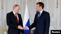 Перша зустріч Макрона і Путіна, Версаль, Франція, 29 травня 2017 року