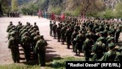 Подготовка вооруженных сил ОДКБ в Таджикистане, 18 апреля 2016 года.