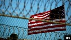 ԱՄՆ դրոշը Գուանտանամոյի ամերիկյան ռազմական բանտի տարածքում