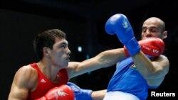 Азиада чемпионы Жәнібек Әлімханұлы. Инчхон, 3 қазан 2014 жыл